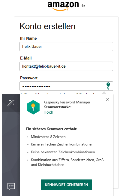 Kaspersky Password Manager Browser